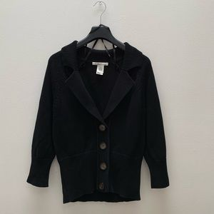 Kenneth Cole - Black Lapel Cardigan